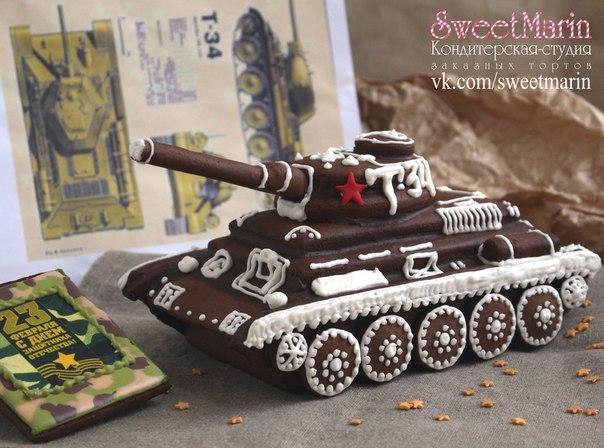 Брутальный пряничный ТАНК Т-34