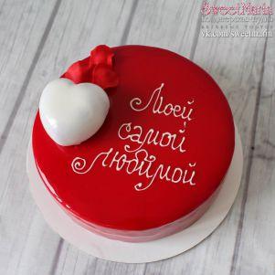 "Торт ""В глазури с сердцем"""