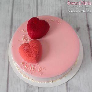 """Торт """"Велюровые сердца"""""""