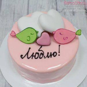"""Акция! Торт """"Птички и 2 сердца"""" 1 кг"""