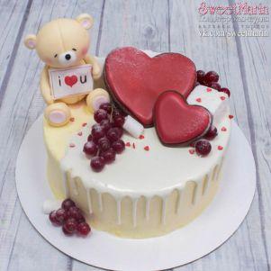 """Акция! Торт """"Мишка и сердца"""" 1 кг"""