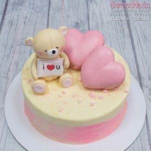 """Акция! Торт """"Мишка и 2 сердца"""" 1 кг"""
