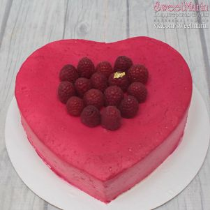 """Акция! Торт """"Малиновое сердце"""" 1 кг"""