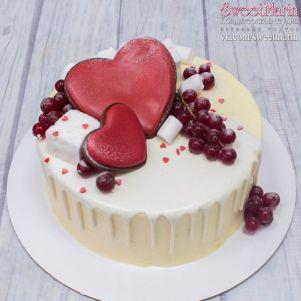 """Акция! Торт """"Сердца и ягоды"""" 1 кг"""