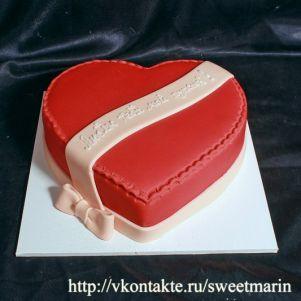 """Акция! Торт """"Сердце с бантом"""" 1 кг"""