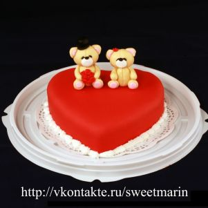 """Акция! Торт """"Влюбленные"""" 1 кг"""