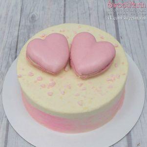 "Акция! Торт ""Два розовых сердца"" 1 кг"