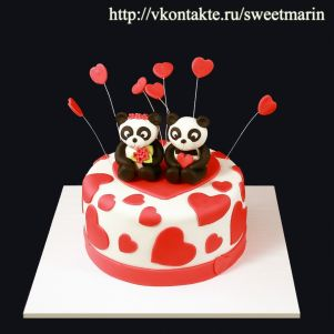 "Акция! Торт ""Влюбленные панды"" 1 кг"