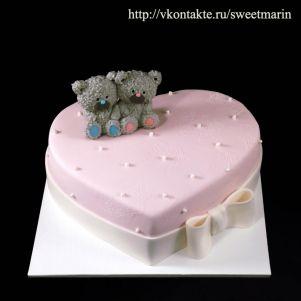 """Акция! Торт """"Мишки на сердце"""" 1 кг"""