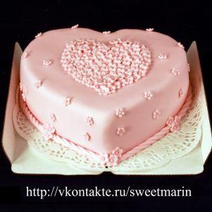 """Акция! Торт """"Цветочное сердце"""" 1 кг"""