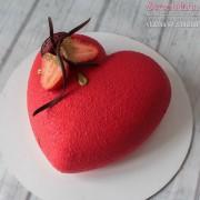 мусовый торт сердце