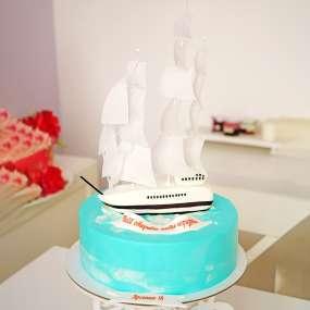 "Торт ""Белый парусник"""