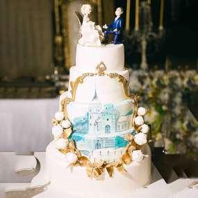 Белый торт золушка
