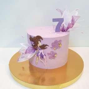 Фиолетовый торт маленькая фея