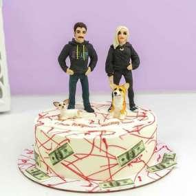 Торт с Юликом и Дашей