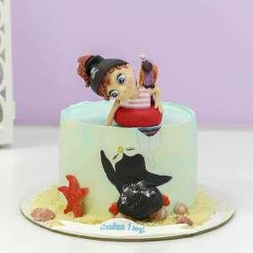 Торт с Девочкой и пингвином