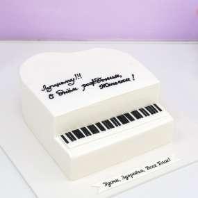 Торт в форме рояля