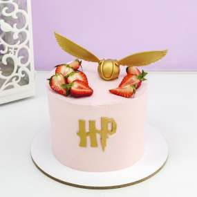 Торт Гарри Поттер розовый