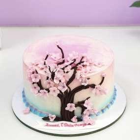 Торт с сакурой