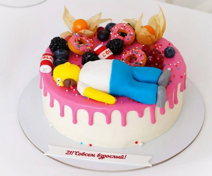 """Торт """"Счастливый Гомер"""""""
