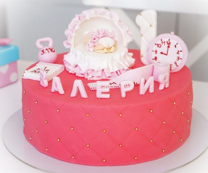 """Торт """"Младенец с метрикой"""""""