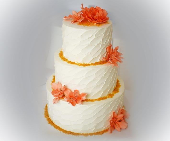 """Торт """"С оранжевыми цветами"""""""