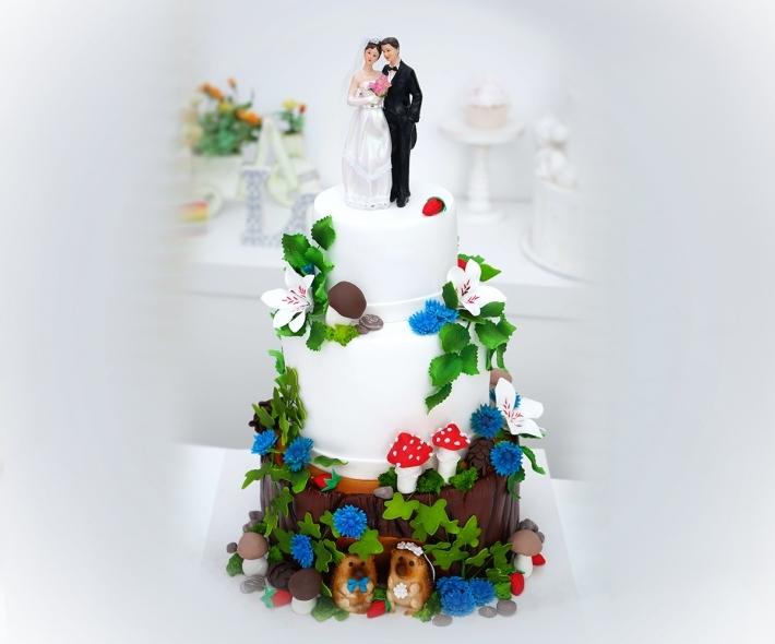 """Торт """"Свадебный лес"""""""