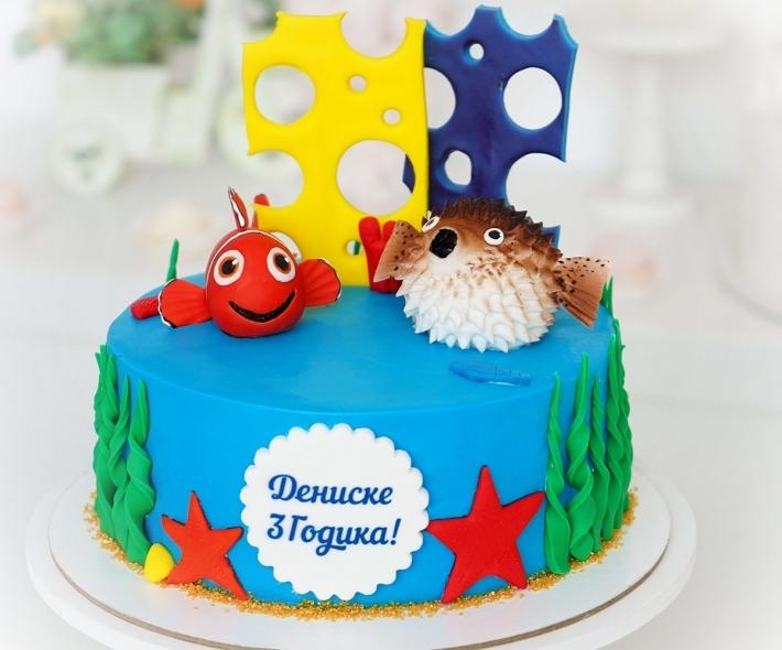 """Торт """"Подводный мир"""