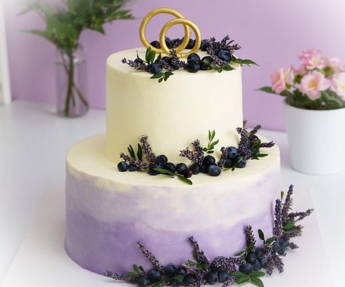 "Торт ""Голубика и лаванда"""