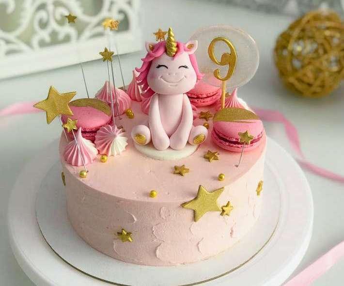 """Торт """"Розовый единорожка"""""""
