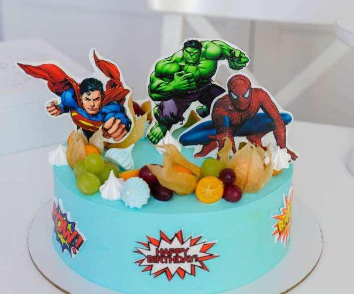 """Торт """"Любимые супергерои Марвел"""""""