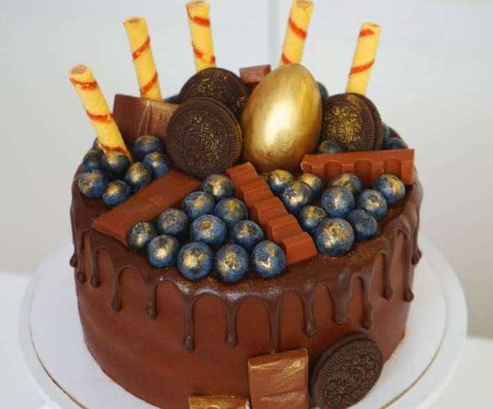 """Торт """"Шоколад и золото"""""""