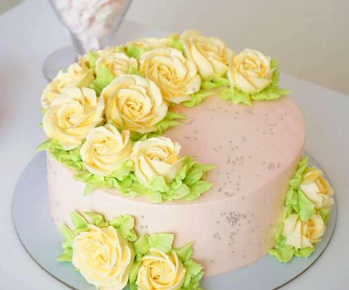 """Торт """"Желтые розы"""""""