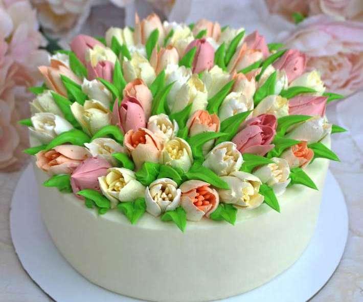 """Торт """"Букет тюльпанов"""""""