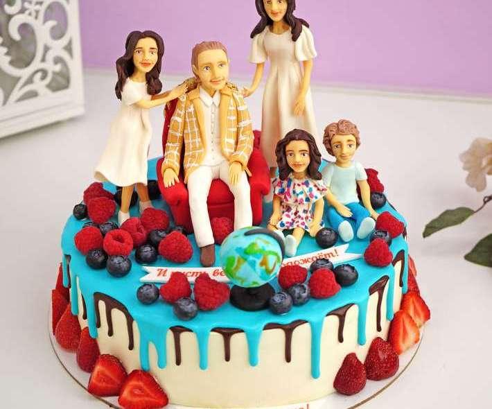 """Торт """"Моя любимая семья"""""""