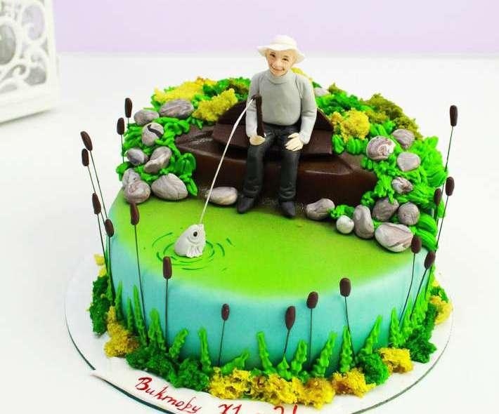 """Торт """"Пожилой рыбак"""""""