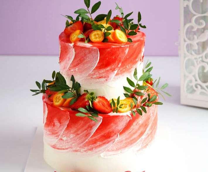 """Торт """"Красные волны"""""""