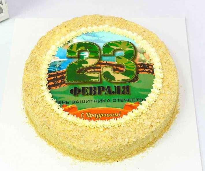 Белый торт день защитника отечества