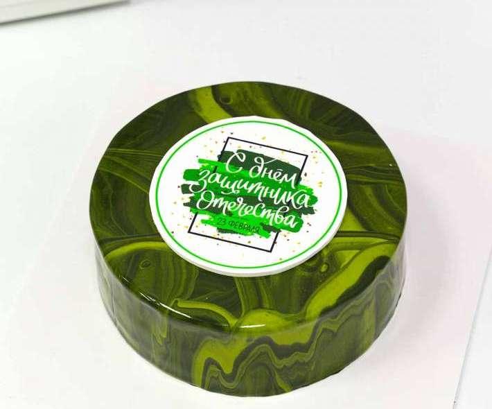 Зеленый торт милитари