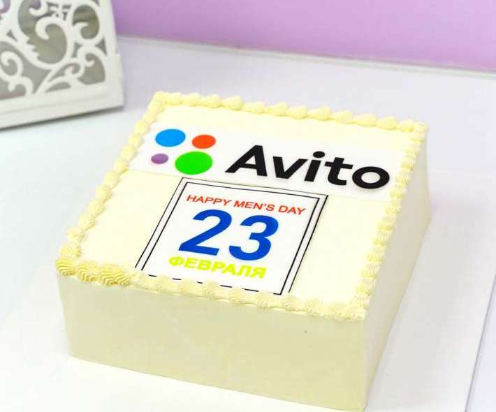 Белый торт авито