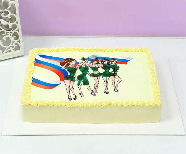 Белый торт для мужчин