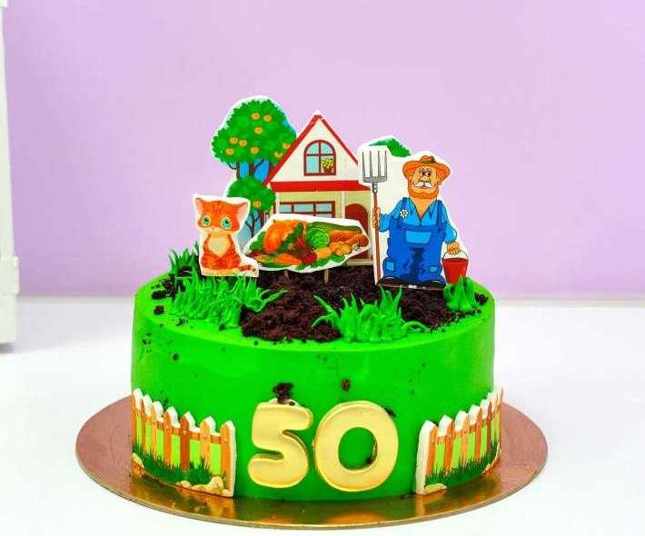 Зеленый торт дачник