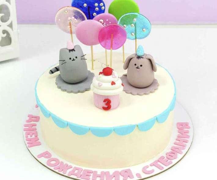 Детский торт с животными