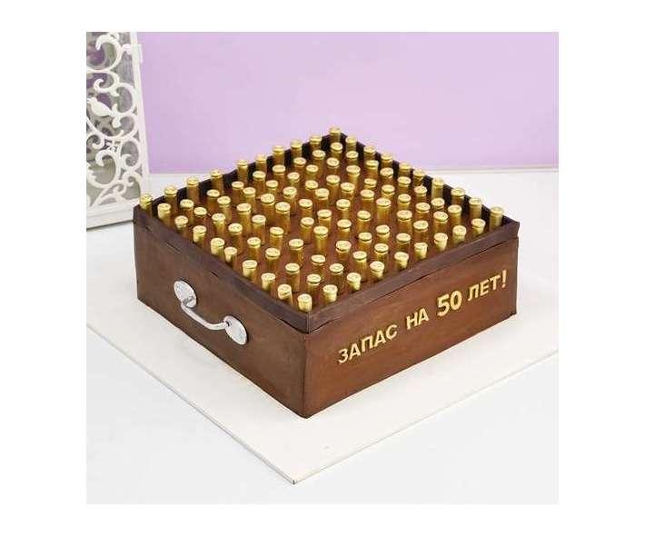 Торт ящик с патронами