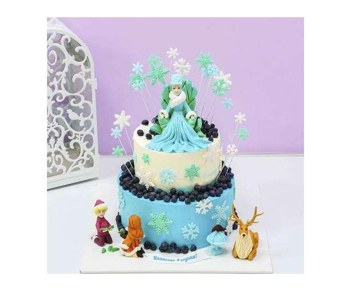 Торт снежная королева