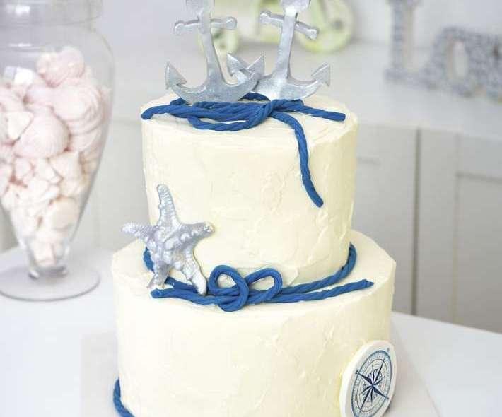 Свадебный торт с якорем