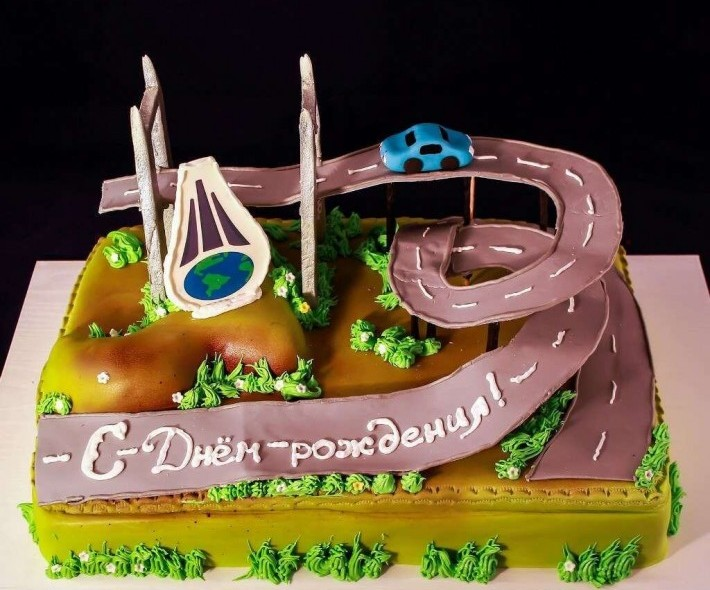 "Торт ""Строителям дорог"""