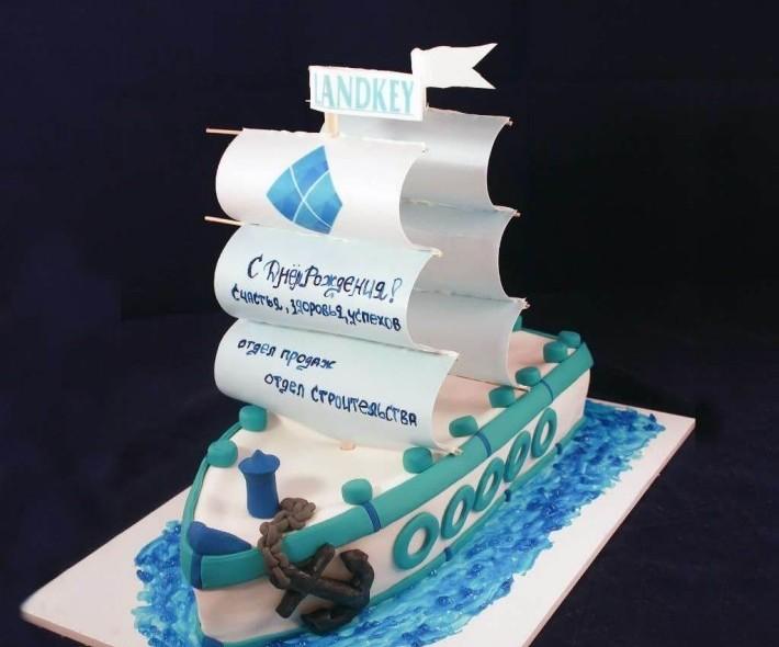 """Торт """"Большому кораблю — большое плавание"""""""