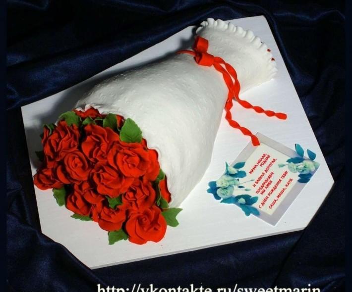 """Торт """"Букет алых роз"""""""
