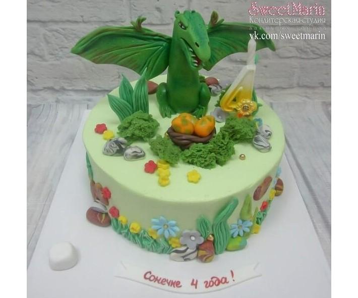 """Торт """" С динозавром"""""""
